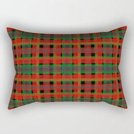 Red, green tartan plaid. Rectangular Pillow
