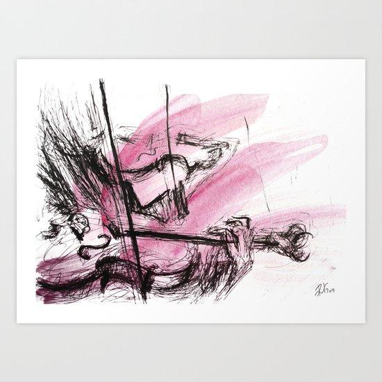 Two Violins Art Print