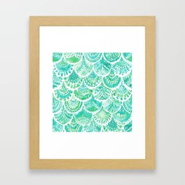 VENUS DE MER Aqua Mermaid Scales Framed Art Print