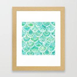 VENUS DE MER Aqua Mermaid Scales Framed Art Print