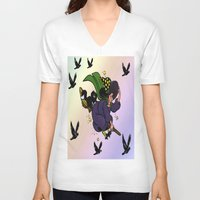 witch V-neck T-shirts featuring Witch by Art-Motiva