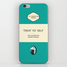 Treat yo' self - the book iPhone Skin