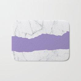 Elegant violet gray white modern marble pattern Bath Mat