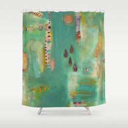 And Then There Were Four Shower Curtain