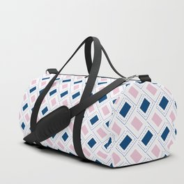 AFE Pink and Blue Pattern Duffle Bag