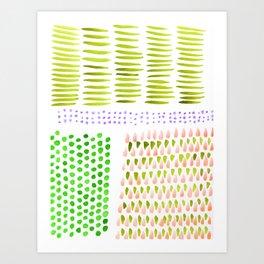 June Brushstrokes Art Print
