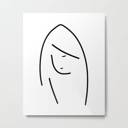 Abstract lady face Metal Print