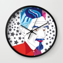 M.C. Escher portrait Wall Clock