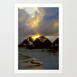 Below Tulum Art Print