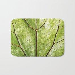 GREEN ORGANIC LEAF WITH VEINS DESIGN ART Bath Mat