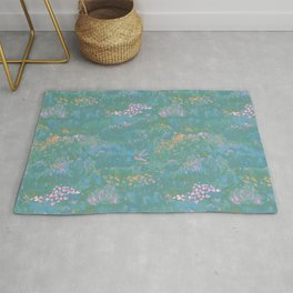 Blue Life in Death Valley Rug