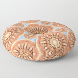 Rust-Art / Colors of Rust / mandala-style-rust Floor Pillow