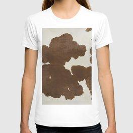 Dark Brown & White Cow Hide T-shirt