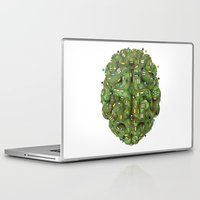 transistor Laptop & iPad Skins featuring Circuit brain by GrandeDuc
