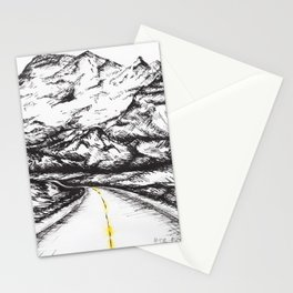 Way to the mountains Stationery Cards