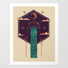 The Tower Azure Art Print