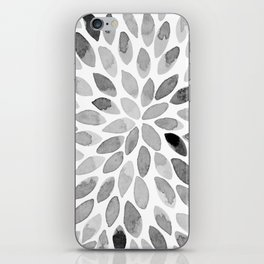 Watercolor brush strokes - black and white iPhone Skin