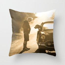 A man's best friend Throw Pillow