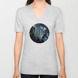 Metallic Ocean III Unisex V-Neck