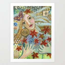 The Answer is Love Art Print