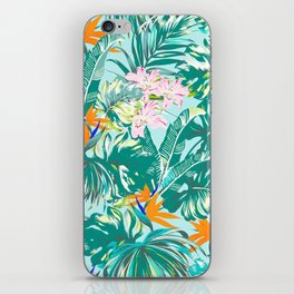 Bird of Paradise Hawaii Rainforest Tropical Leaves Pastels iPhone Skin