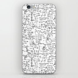 Physics Equations on Whiteboard iPhone Skin