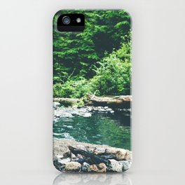 Mt. Baker Hot Spring iPhone Case