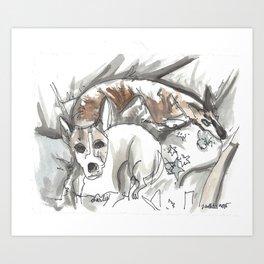 Dog Portrait Series - Charlie & Canon Art Print