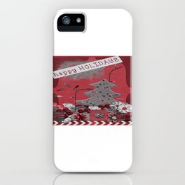 Happy Holidays 2 iPhone Case