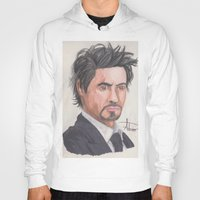 robert downey jr Hoodies featuring Robert Downey Jr. by Adrian Casanova