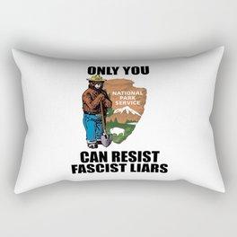 Only You Can Resist Fascist Liar Rectangular Pillow