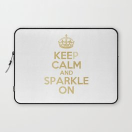 Keep Calm & Sparkle On Laptop Sleeve