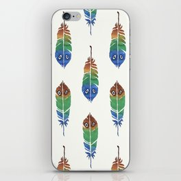 Colorful Decorative Feathers iPhone Skin