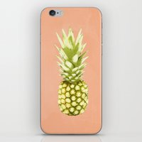 pineapple iPhone & iPod Skins featuring Pineapple by Grace