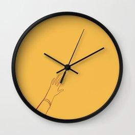 Yellow Hand Wall Clock