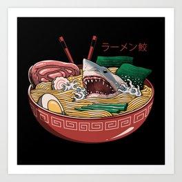 Ramen Shark Art Print