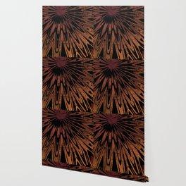 Native Tapestry in Burnt Umber Wallpaper