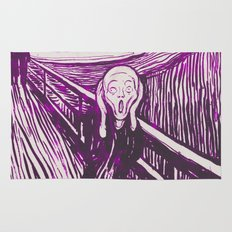 The Scream's Haze (purple) Rug