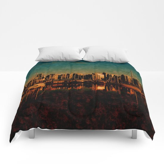 Painted City Comforters