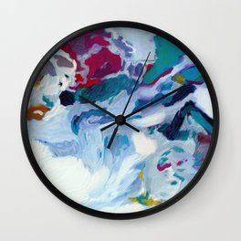the sea on the beach abstract art Wall Clock