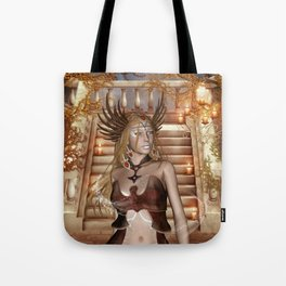 Wonderful fairy with headdress Tote Bag