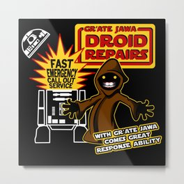 Gr'Ate Jawa Droid Repairs Metal Print