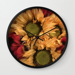Country Sunflowers Wall Clock