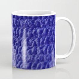 Blue Bubble Row Textile Photo Art Coffee Mug