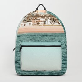 Vintage Newport Beach Print {1 of 4} | Photography Ocean Palm Trees Teal Tropical Summer Sky Backpack