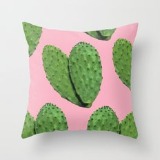 Cactus on pink backround #society6 Throw Pillow