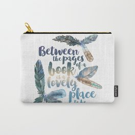 Between the Pages - Feathery White Carry-All Pouch