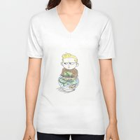 aquaman V-neck T-shirts featuring Baby Arthur by Eric Dockery