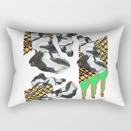 Bent Chrome Junk // Frozen Paint Drop Rectangular Pillow