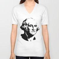washington V-neck T-shirts featuring WASHINGTON by b & c